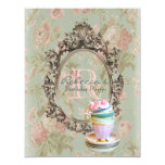 elegant english floral vintage birthday party announcement