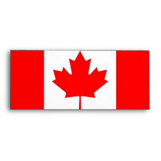 Elegant Envelope with Flag of Canada