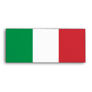Elegant Envelope with Flag of Italy