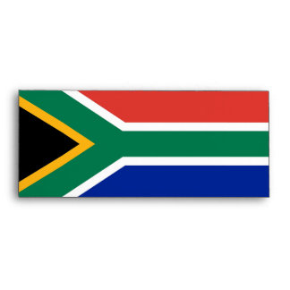 Elegant Envelope with Flag of South Africa