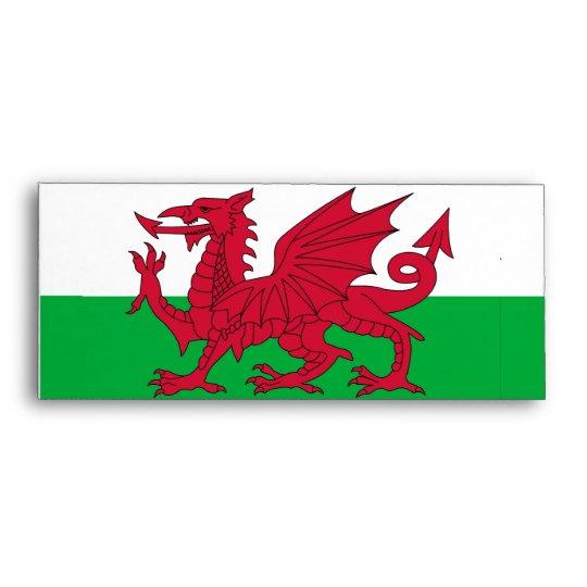 Elegant Envelope with Flag of Wales
