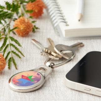 Elegant Eritrea flag heart Silver-Colored Oval Metal Keychain