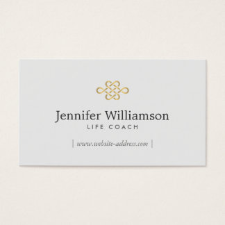 Elegant Eternity Knot, Infinity Knot Gold/Lt Gray Business Card