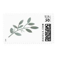 Elegant Eucalyptus Branch Wedding Suite Postage