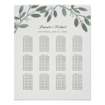 Elegant Eucalyptus Garden Wedding Seating Chart