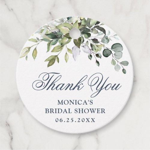 Elegant Eucalyptus Greenery Bridal Shower Favor Tags