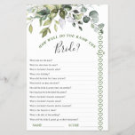 """Elegant Eucalyptus Greenery Bridal Shower Game<br><div class=""""desc"""">Enjoy your bridal shower with these funny games. For further customization,  please click the """"customize further"""" link. If you need help,  contact me please.</div>"""