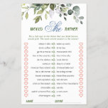 """Elegant Eucalyptus Greenery Bridal Shower Game<br><div class=""""desc"""">Enjoy your bridal shower with these funny games. Personalize with the bride to be's name and date of shower.  For further customization,  please click the """"customize further"""" link. If you need help,  contact me please.</div>"""