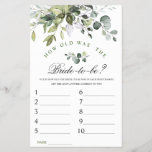 """Elegant Eucalyptus Watercolor Bridal Shower Game<br><div class=""""desc"""">Enjoy your bridal shower with these funny games. Personalize with the bride to be's name and date of shower.  If you need help,  contact me please.</div>"""