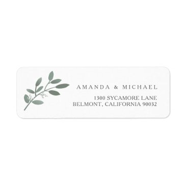 kat_parrella Elegant Eucalyptus Wedding Envelope Return Address Label