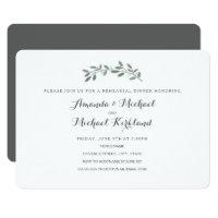 Elegant Eucalyptus Wedding Rehearsal Dinner Card