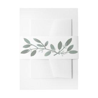 Elegant Eucalyptus Wedding Suite Belly Band