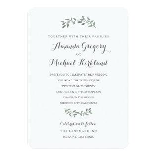 Elegant Eucalyptus Wedding Suite Card at Zazzle