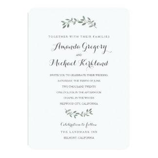 Good Elegant Eucalyptus Wedding Suite Card
