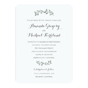 kat_parrella Elegant Eucalyptus Wedding Suite Card