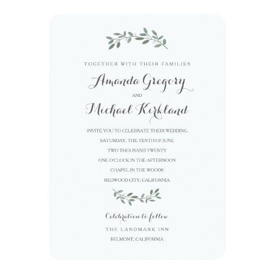 Elegant eucalyptus wedding suite card zazzle elegant eucalyptus wedding suite card stopboris Choice Image