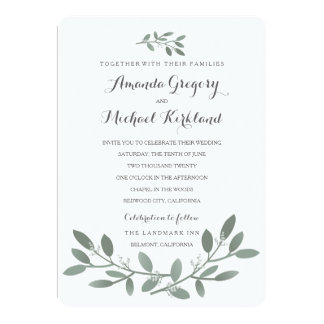 Elegant Eucalyptus Wedding Suite Card