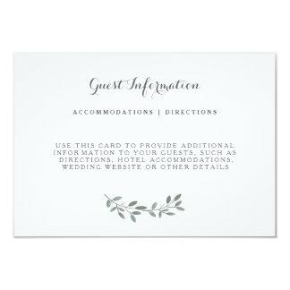 Elegant Eucalyptus Wedding Suite Insert Card