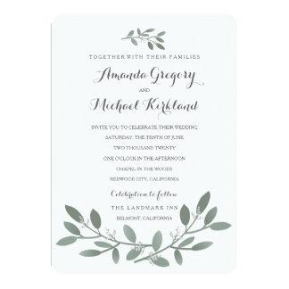 Elegant Eucalyptus Wedding Suite Invitation