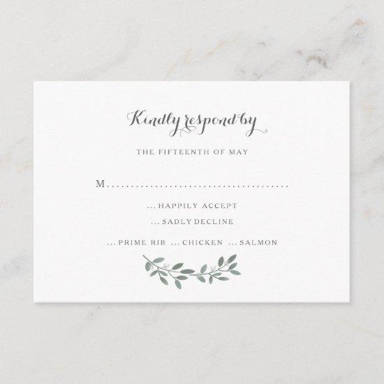 Elegant Eucalyptus Wedding Suite Response RSVP