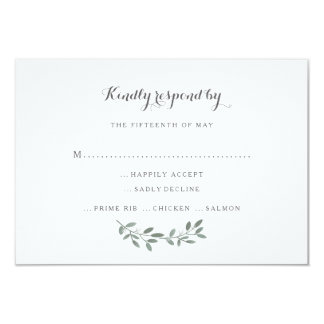 Elegant Eucalyptus Wedding Suite Response RSVP Card