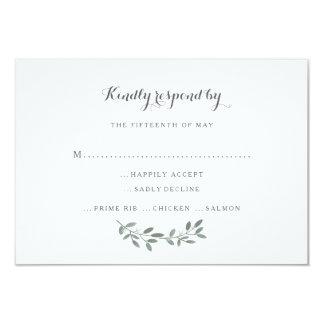 Elegant Eucalyptus Wedding Suite Response RSVP Card