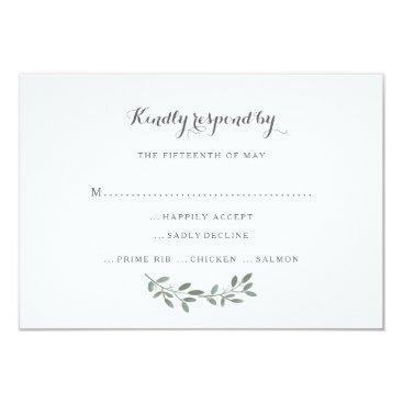 kat_parrella Elegant Eucalyptus Wedding Suite Response RSVP Card