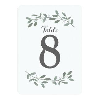 Elegant Eucalyptus Wedding Suite Table Numbers