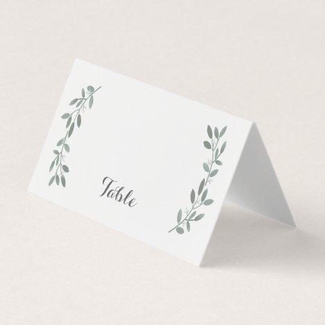 Elegant Eucalyptus Wedding Suite Table Placecard