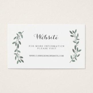 Elegant Eucalyptus Wedding Website Insert Card