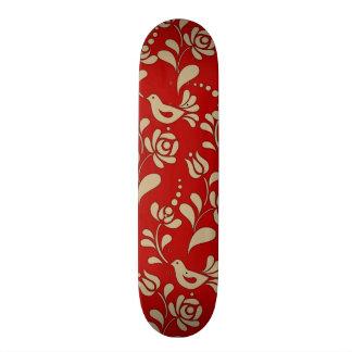Elegant European Folk Art Skateboard Deck