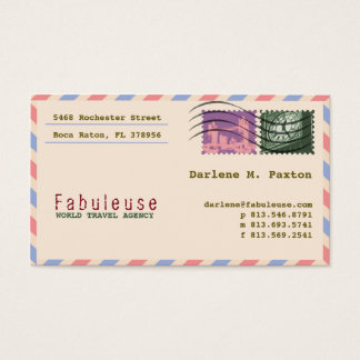 Elegant European Travel Business Card