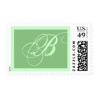 Elegant Event Monogram B Postage Stamp
