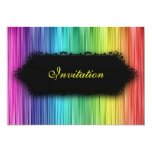 Elegant Events Black Rainbow Curtain 5x7 Paper Invitation Card