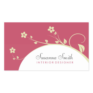 Elegant exclusive card of flowers and red bottom business card templates