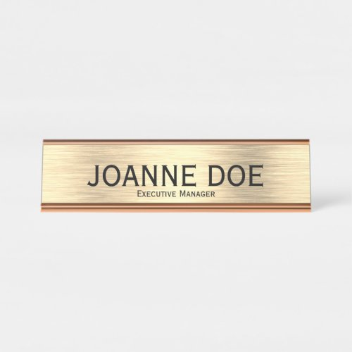 Elegant Executive Manager Desk Name Plate