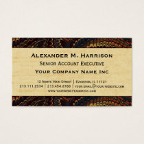Elegant Executive Marbled Paper Antique Business Card