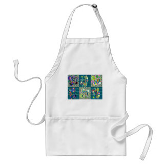 Elegant Exotic Artistic Pattern Stone Crystal GIFT Adult Apron