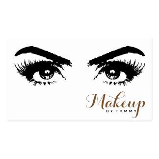 Elegant Eyes Close Up Professional Makeup Artist Business Card