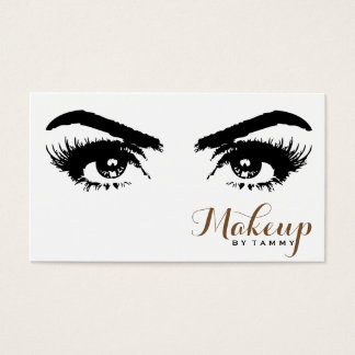 Elegant Eyes Close Up Professional Makeup Artist Business Card
