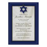 Elegant Fabric Bar Mitzvah Invitation in Navy