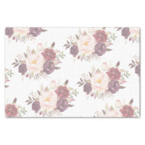 Elegant Faded Floral Wedding Invitation Tissue Paper