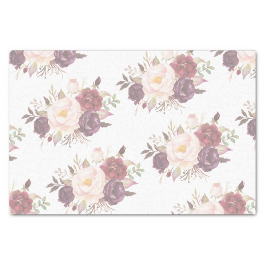 Elegant Faded Floral Wedding Invitation Tissue Paper Zazzle Com