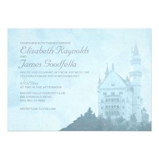 Elegant Fairytale Castle Wedding Invitations Custom Invitations