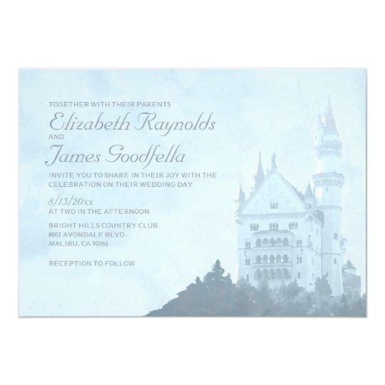 Fairytale Invitations Wedding: Elegant Fairytale Castle Wedding Invitations