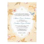 Elegant Fall Bohemian Autumn Wedding Invitation