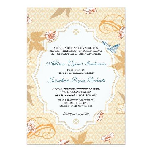 Elegant Fall Bohemian Autumn Wedding Invitation   Zazzle