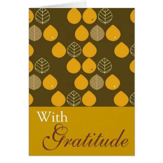 Elegant Fall Leaves Greeting Card