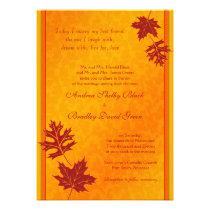 Elegant Fall Leaves Wedding Invitation