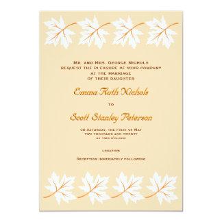 Elegant Fall Maple Leaf Custom Wedding Invitation